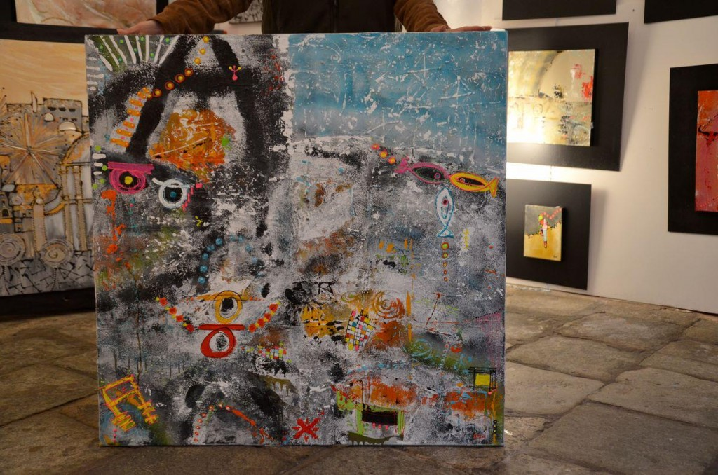 Peinture Le Monde de Stéphan par EMGE